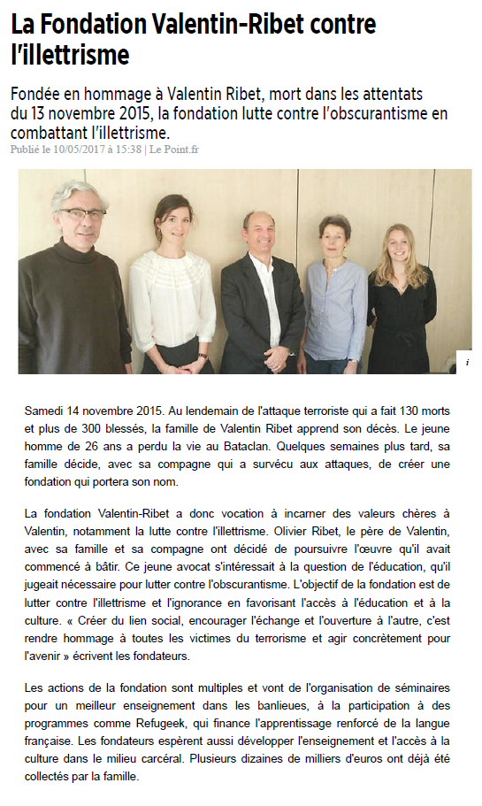 Article Le Point sur la FVR